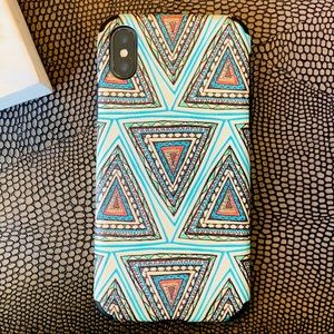 iPhone Case, Mint Abstract Design